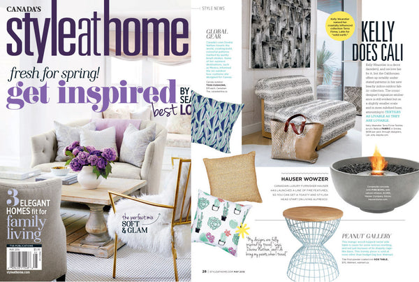 Hauser featured in Style at Home May 2016