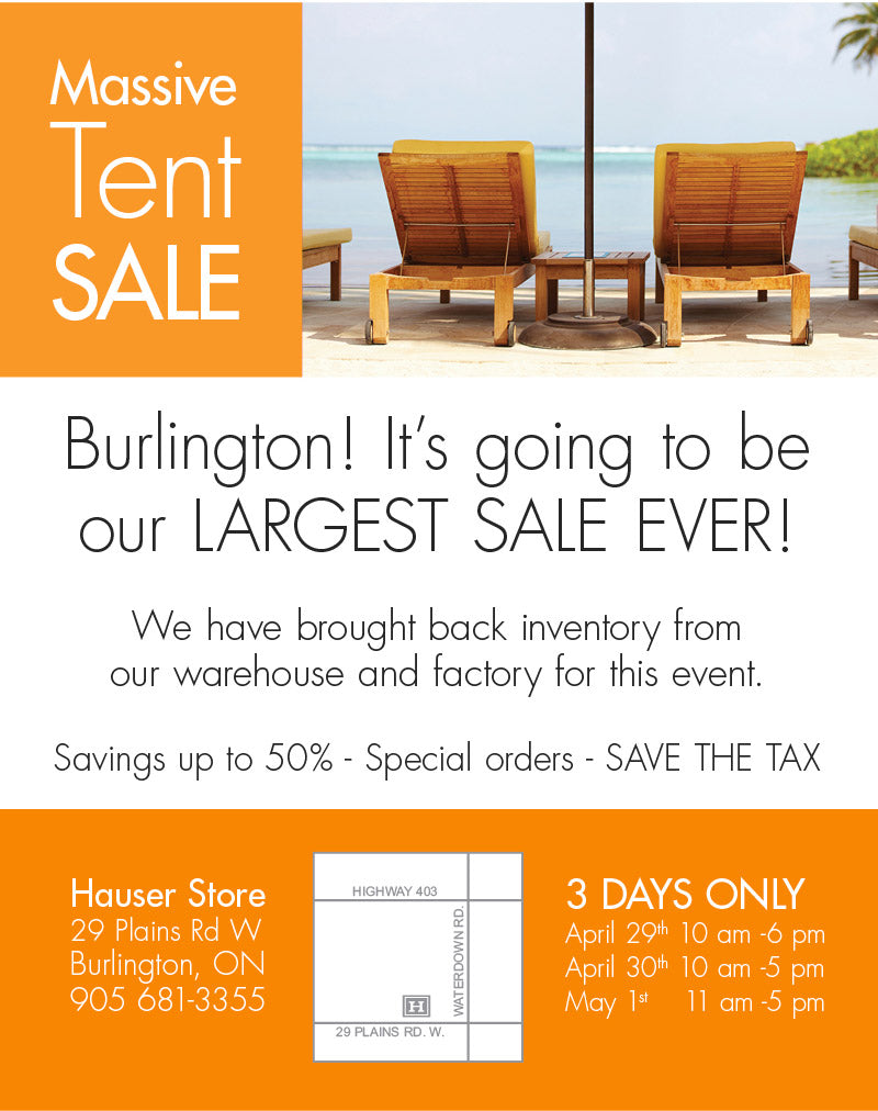 Massive Burlington Sale on Outdoor and Patio Furniture - Apr. 29 - May 1st