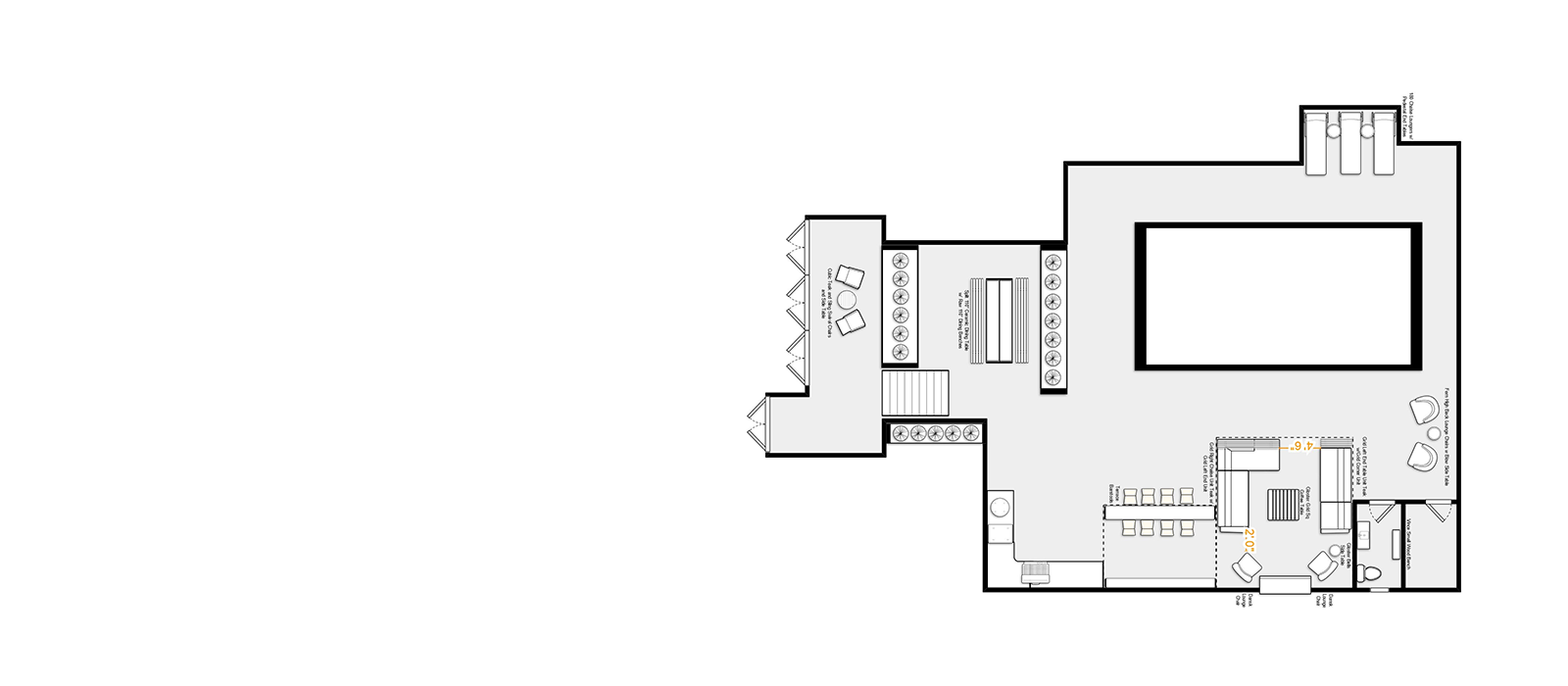 cad drawing of home with furniture