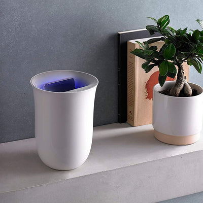 Oblio Wireless Charger & Sanitizing Vase
