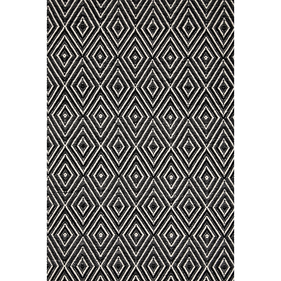 Rug - Indoor/Outdoor - Diamond Black/Ivory - Size 2' x 3' to 8.5' x 11'