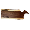 Engraved Walnut Charcuterie Board - Cheers