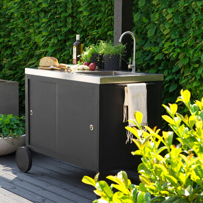Outdoor Patio Kitchen Cart