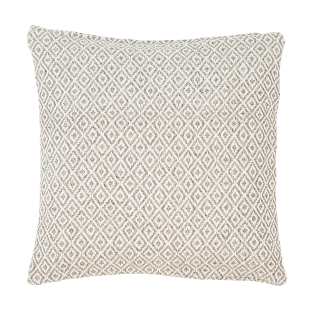 Crystal Platinum White Indoor/Outdoor Pillow