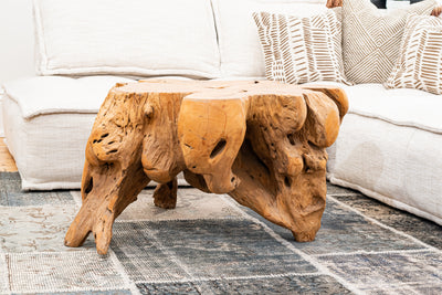 Reclaimed Teak Root Coffee Table