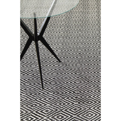 Dash & Albert Diamond Black/Ivory Indoor/Outdoor Rug
