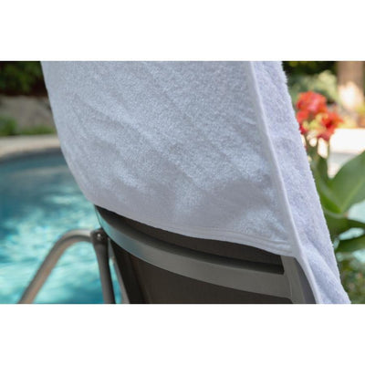 Fitted Lounge Towel - White