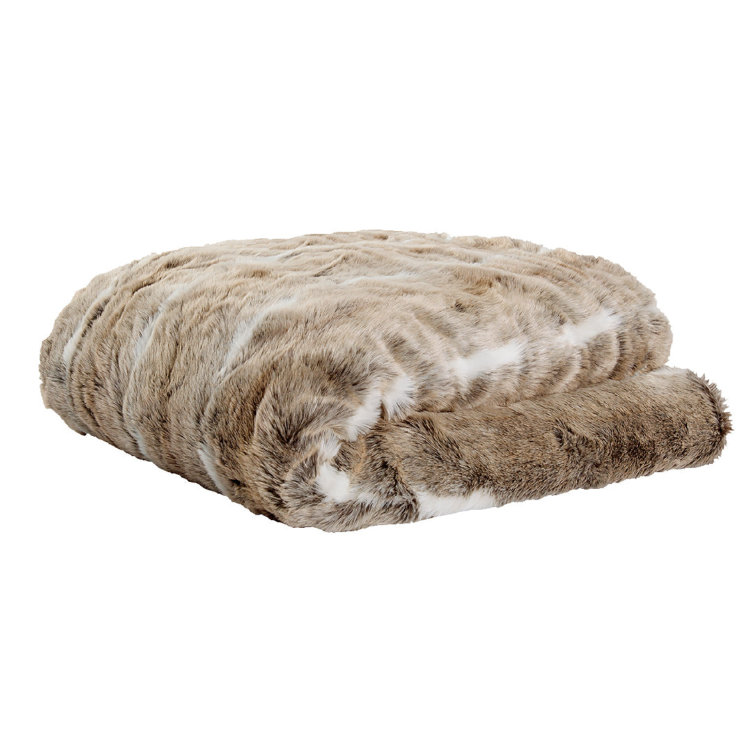 Faux Fur Grizzly Throw