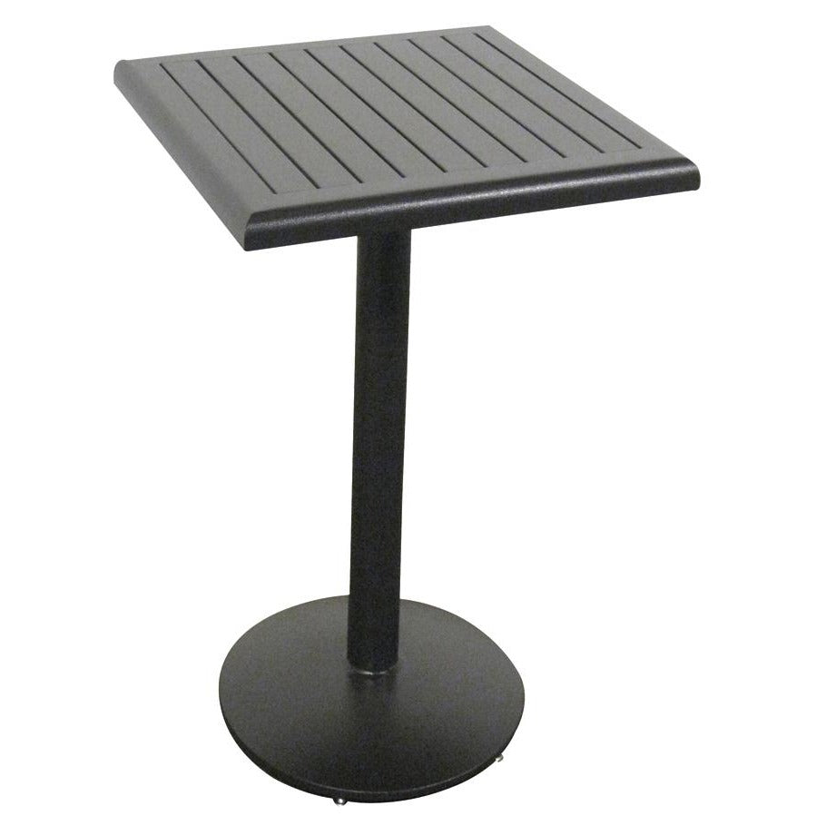 "Slat Java Bar Table - 24"" Sq."