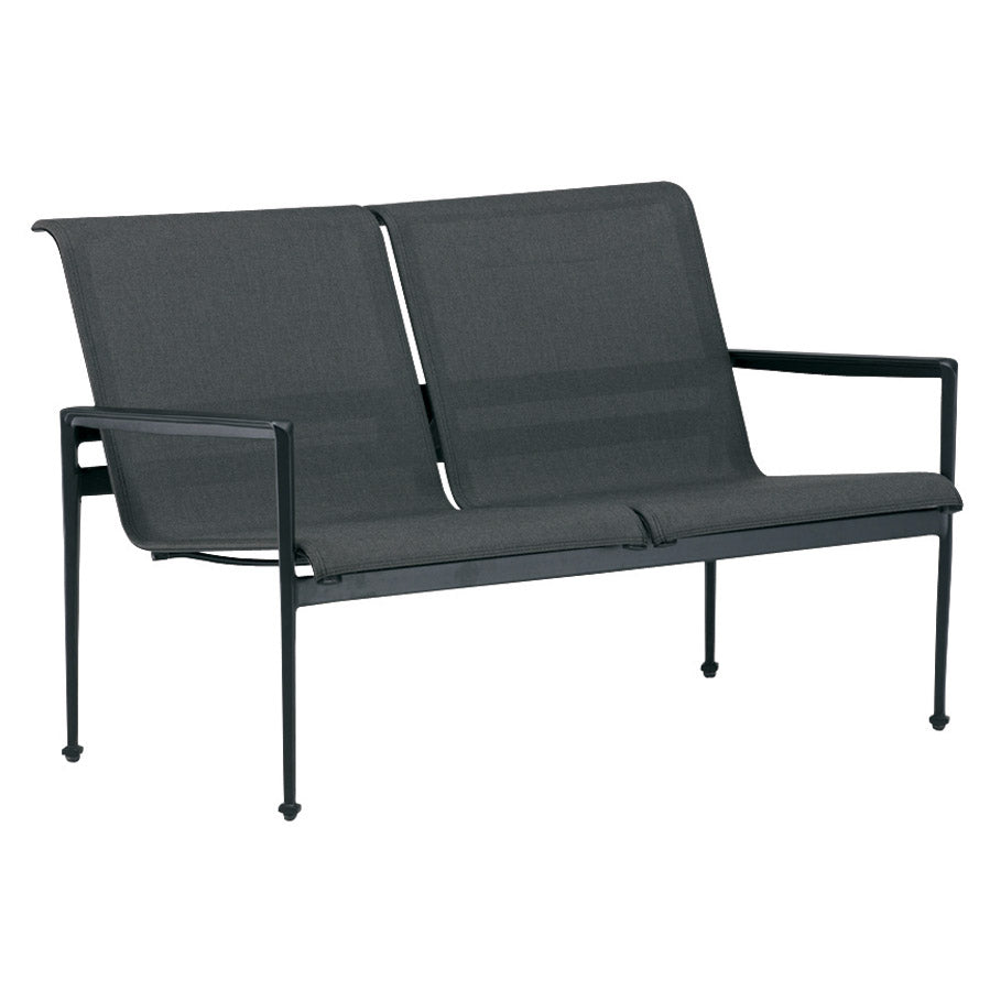 Kensington Loveseat - Graphite with Caviar Frame