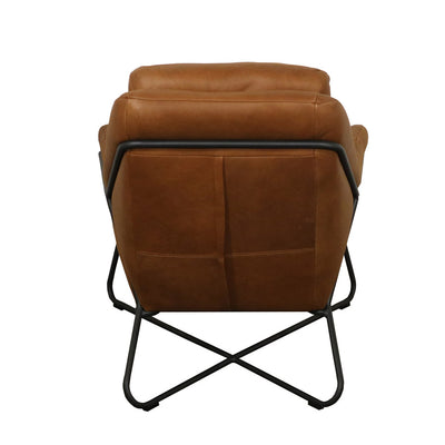 Link Lounge Leather Chair - Cognac