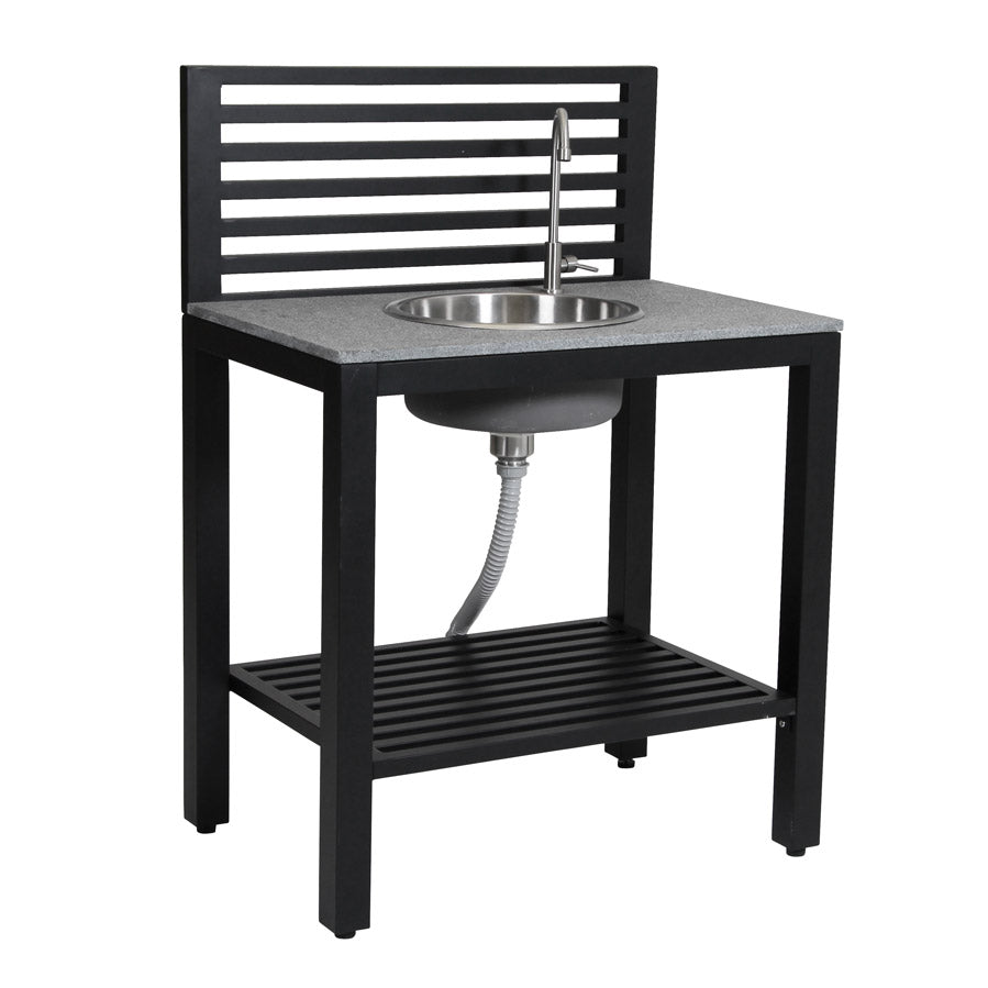Outdoor Patio Kitchen with Sink - Black