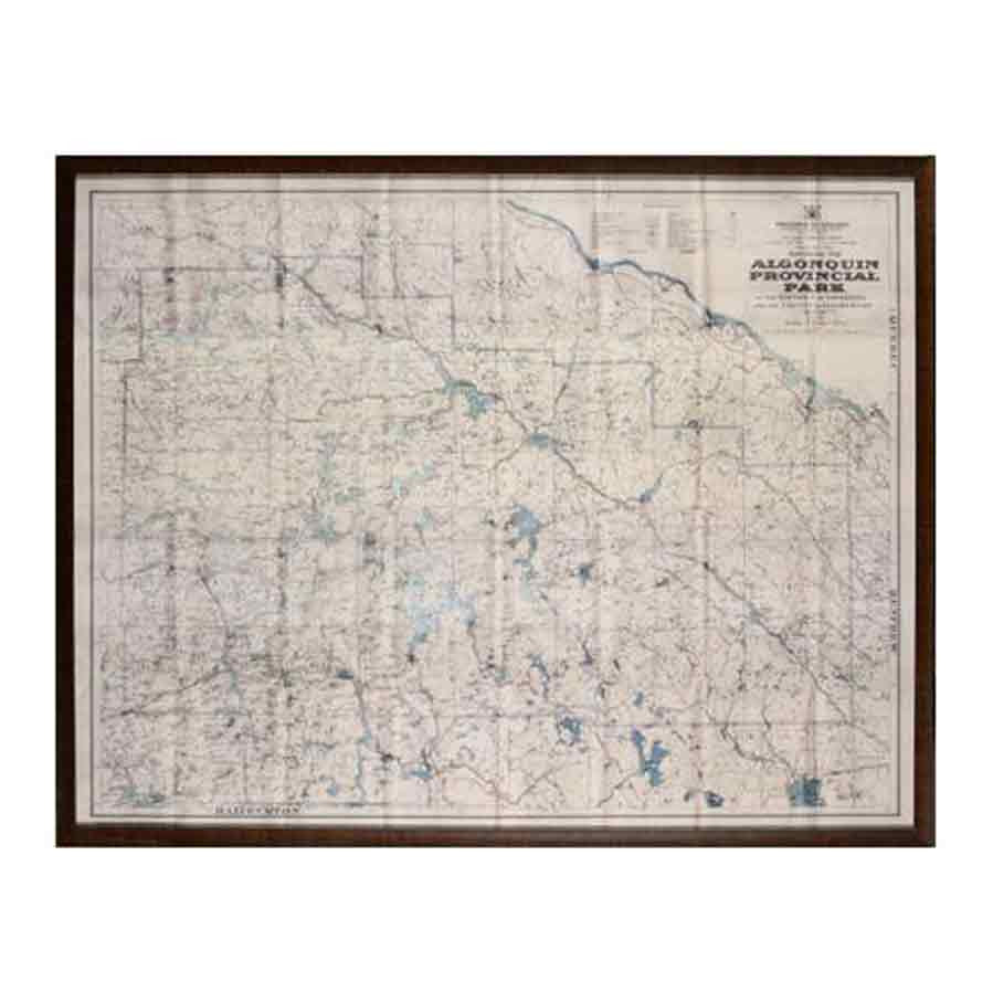Algonquin Map Wall Art