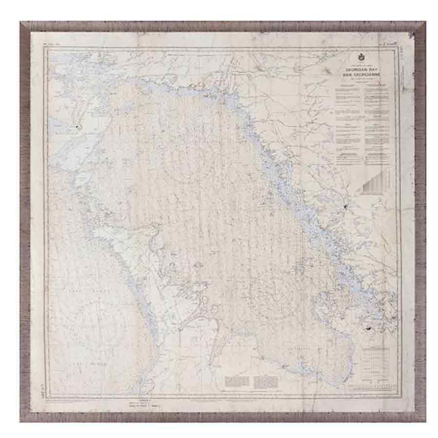 Georgian Bay Map Wall Art