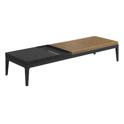 Gloster Grid Nero/Teak Coffee Table