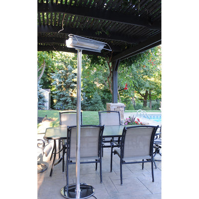 Stainless Steel Electric Heater with Remote