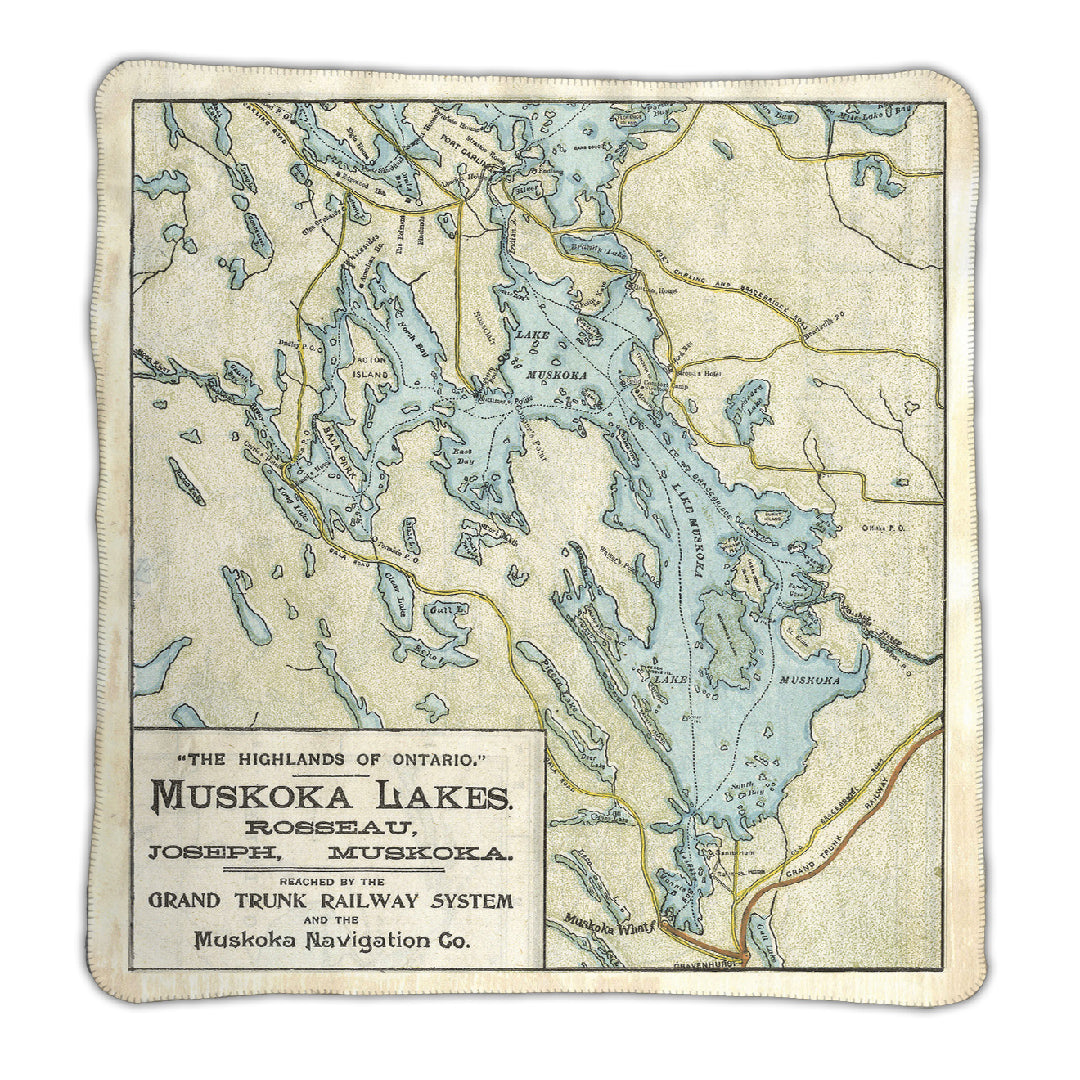Lake Muskoka Map Blanket