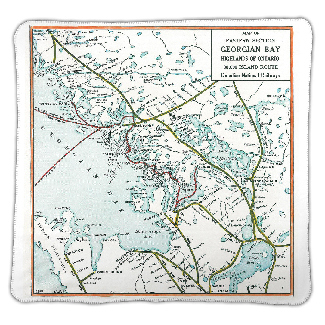 Georgian Bay Vintage Map Blanket