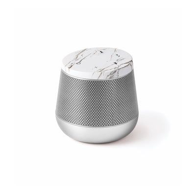 Miami Sound Bluetooth Speaker White Marble Silver