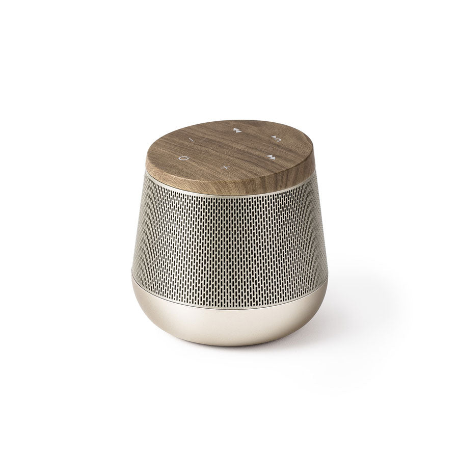 Miami Sound Bluetooth Speaker Wood Gold