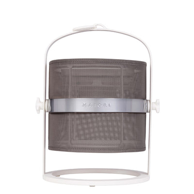 Naval Solar Lamp Small - White/Taupe Shade