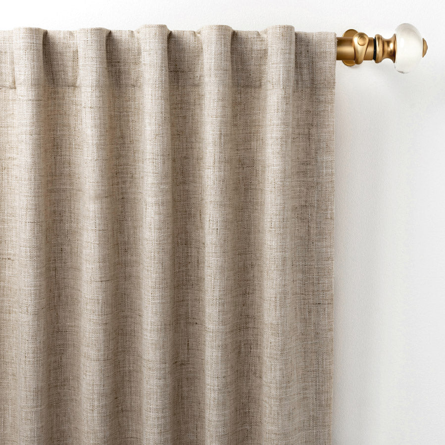 Pine Cone Hill Greylock Natural Curtain Panel