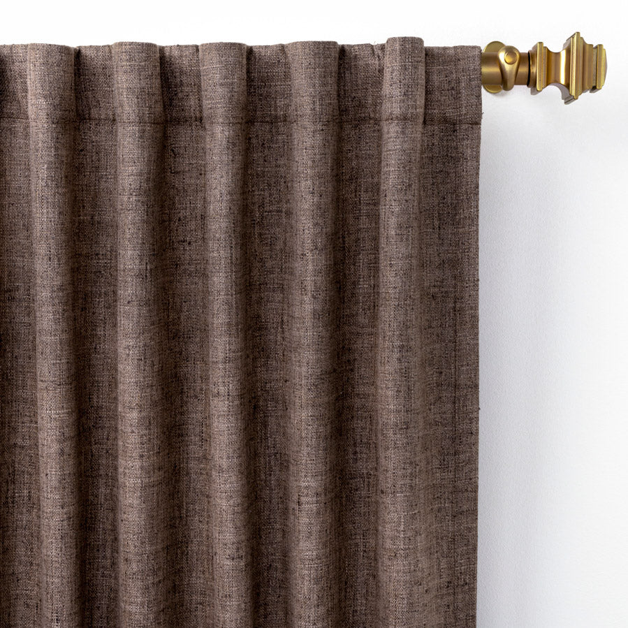 Pine Cone Hill Greylock Brown Curtain Panel