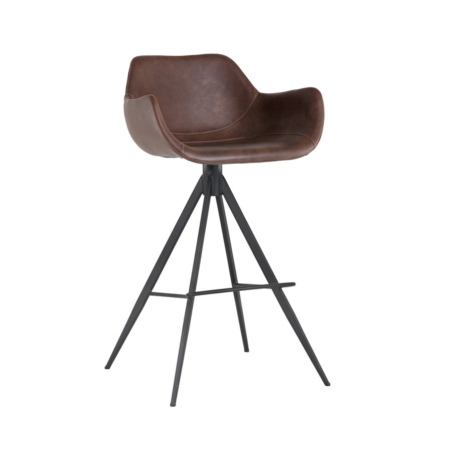 Owen Swivel Bar Stool - Hearthstone Brown