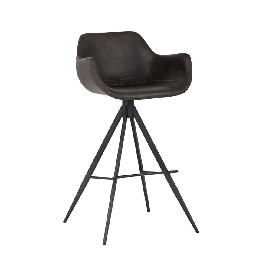 Owen Swivel Bar Stool - Town Grey