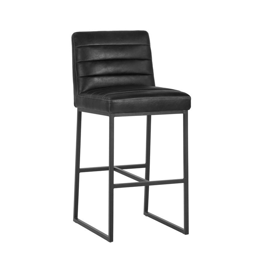Spyros Bar Stool - Coal Black