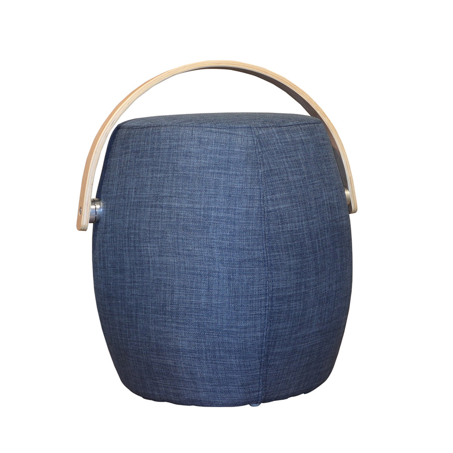 Pouf with Handle - Denim
