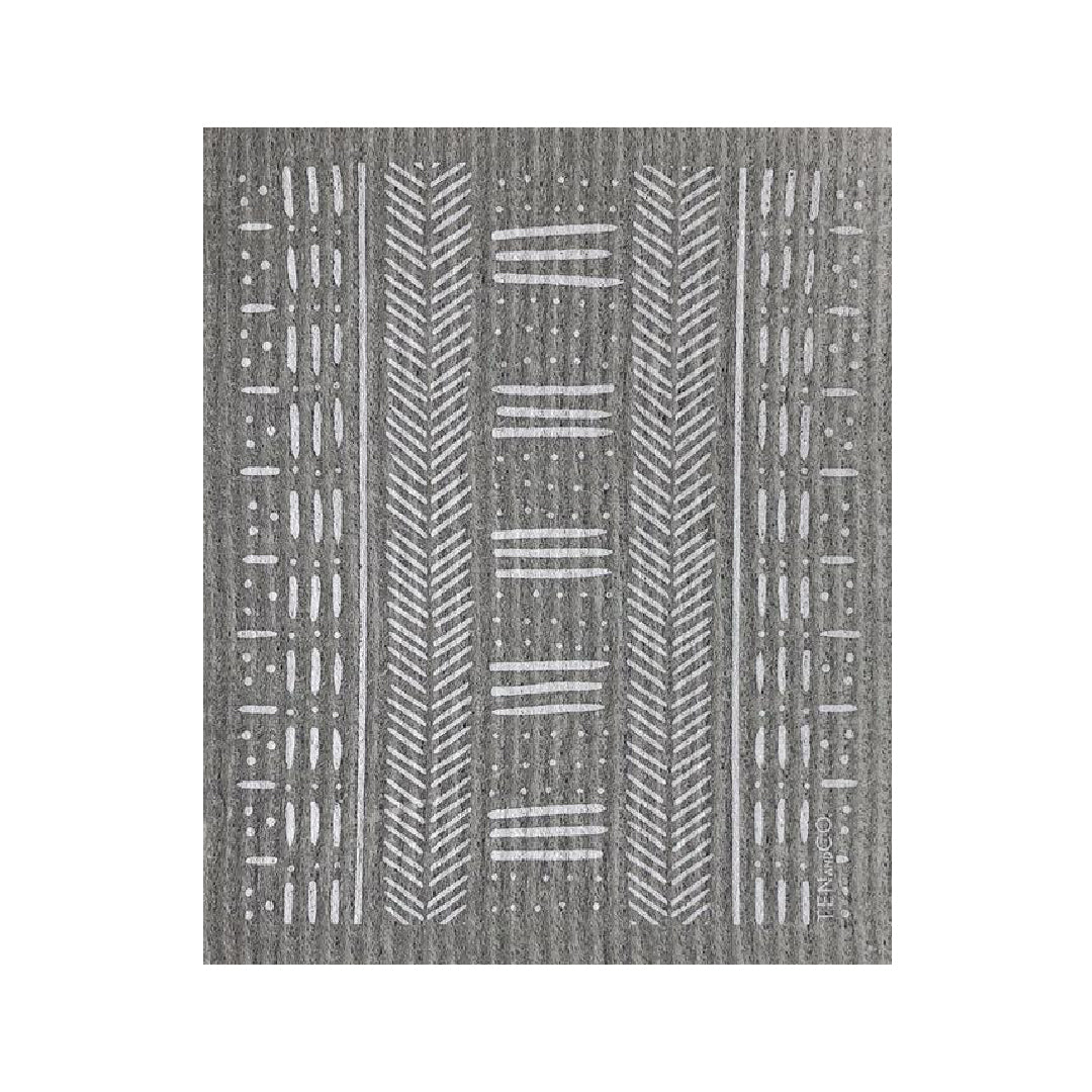 Mudcloth Grey Sponge Cloth