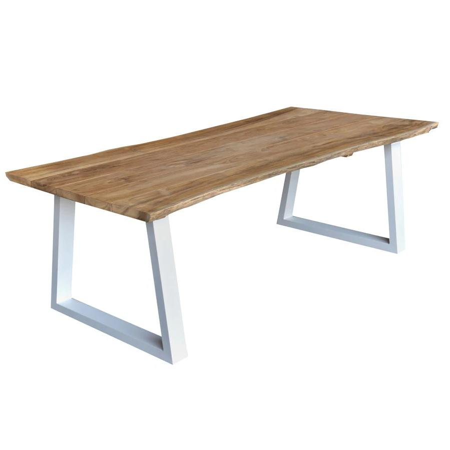 Teak Dining Table - White