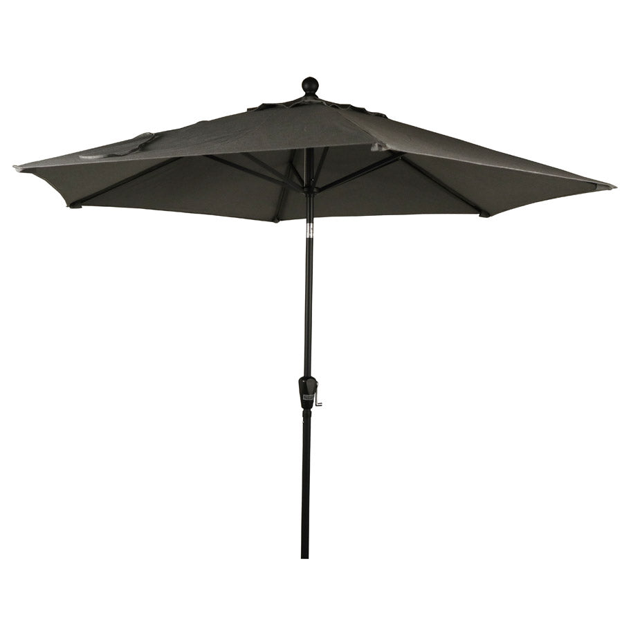 9' Aluminium Market Umbrellas - Slate or Silver  - Push Button Tilt