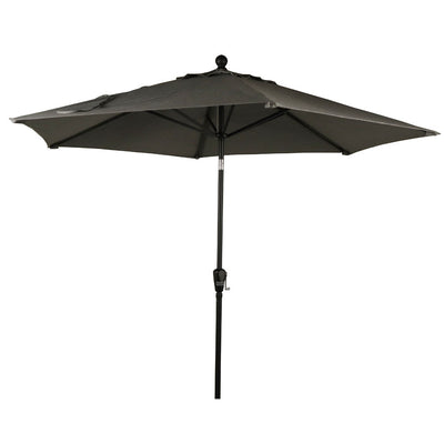 9' Aluminium Market Umbrellas - Slate or Silver or - Push Button Tilt