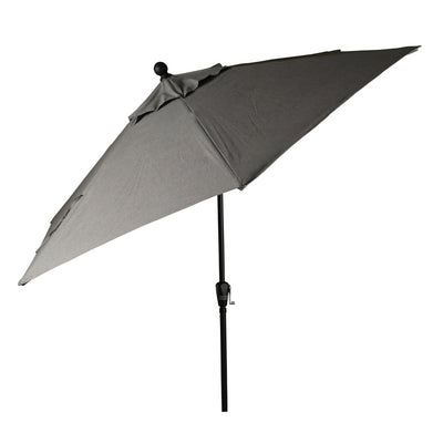9' Aluminium Market Umbrella - Push Button Tilt Slate