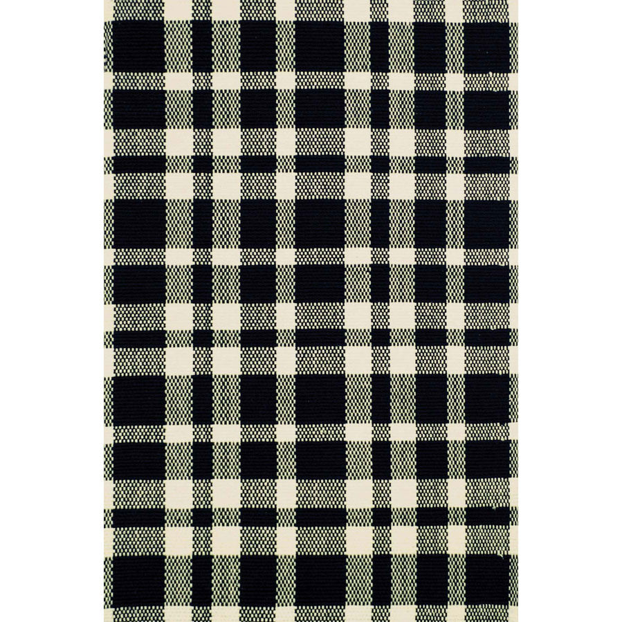 Rug - Indoor - Tattersall Black/Ecru Woven Cotton Rug