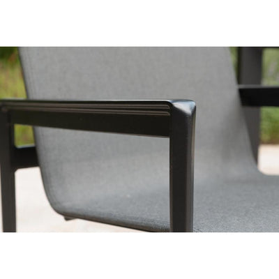 Kensington Dining Chair - Graphite with Caviar Frame