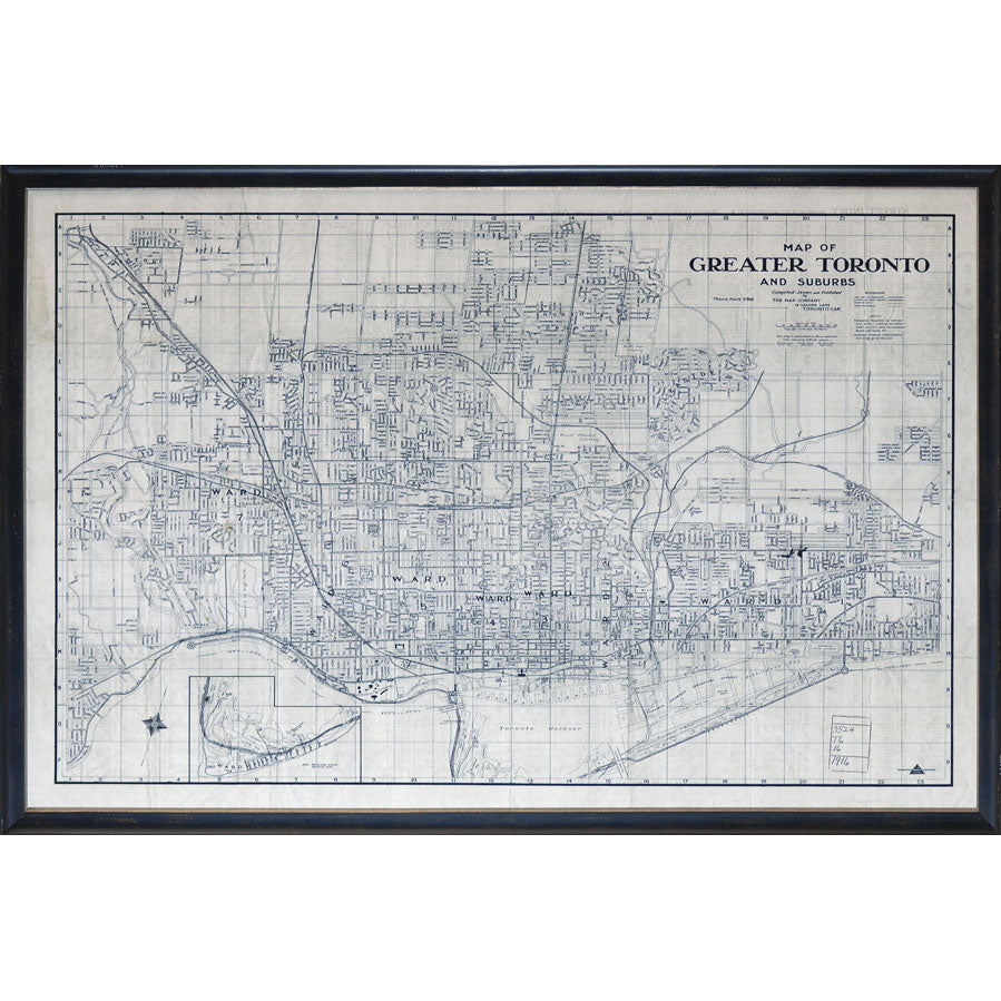 Greater Toronto Map Wall Art