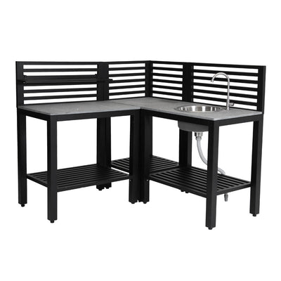 Outdoor Patio Kitchen Corner - Black