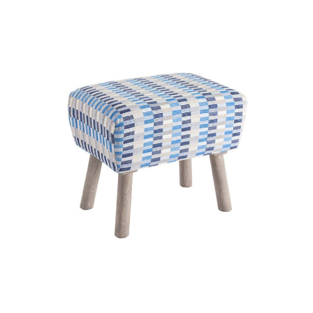 Cantina Blue Mini Ottoman- Rectangle
