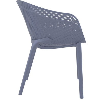 Sky Arm Chair - Dark Grey
