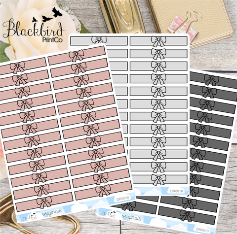 Bow Headers - Hand Drawn Planner Stickers [DR0010]
