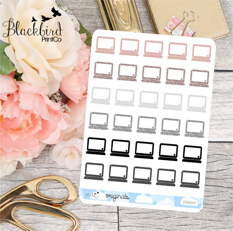 Computers - Hand Drawn Planner Stickers [DR0007]