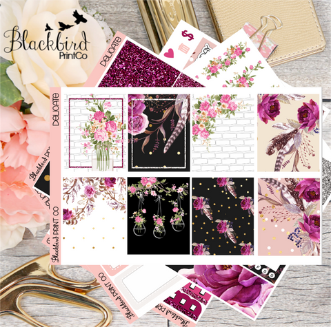 Delicate | Planner Sticker Kit for Erin Condren Vertical