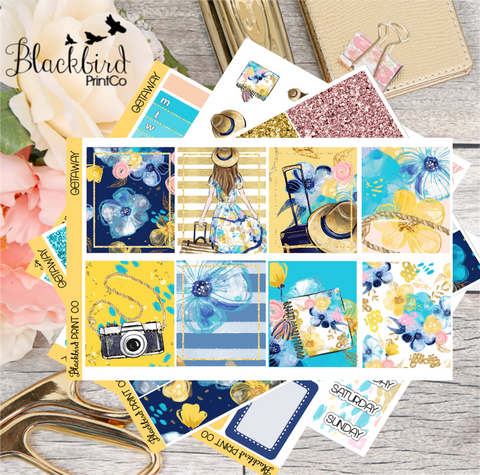Getaway | Planner Sticker Kit for Erin Condren Vertical