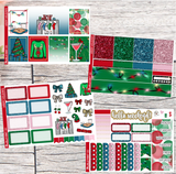Happy Holidays | Exclusive Hand Drawn Planner Sticker Kit for Erin Condren Vertical