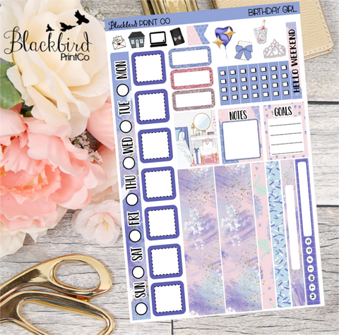 Birthday Girl | Planner Sticker Kit for Hobonichi Weeks Planners
