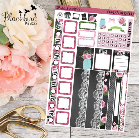 Chalkboard Chic | Planner Sticker Kit for Hobonichi Weeks Planners