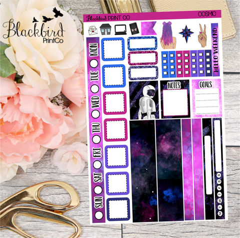 Cosmic | Planner Sticker Kit for Hobonichi Weeks Planners